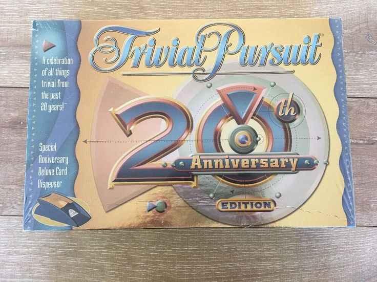 Trivial Pursuit 20TH Anniversary Edition Trivia Board Game 2002 New Sealed  #HasbroParkerBros