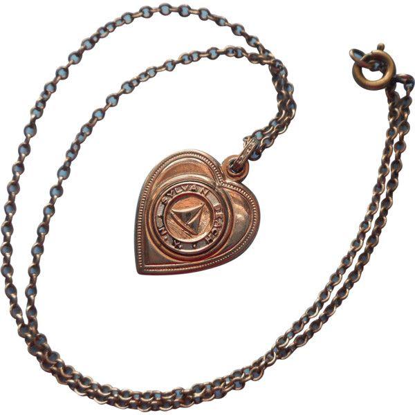 Sylvan Beach Souvenir Locket Vintage Slider Style On Chain Necklace ❤ liked on Polyvore featuring jewelry, necklaces, chain necklaces, chain locket, engraved jewellery, engraved locket and vintage jewellery