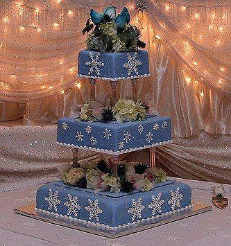 winter snowflake cake: Winter Cakes, Snowflakes Cakes, Cakes Ideas, Snowflakes Wedding Cakes, Winter Snowflakes, Blue Winter Wedding Cakes, Theme Wedding, Snowflake Wedding Cake, Wedding Cakes Design
