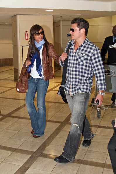 Nick Lachey and Vanessa Minnillo at LAX