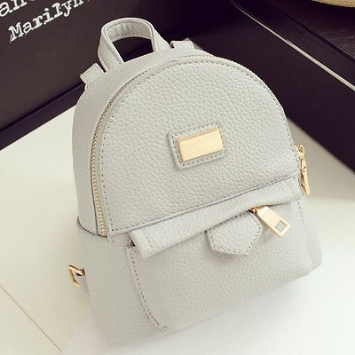 Women's Faux Leather Convertible Small Mini Backpack Rucksack Shoulder bag Purse