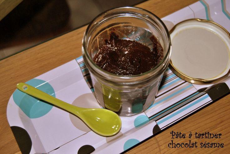 Pâte à tartiner chocolat sésame