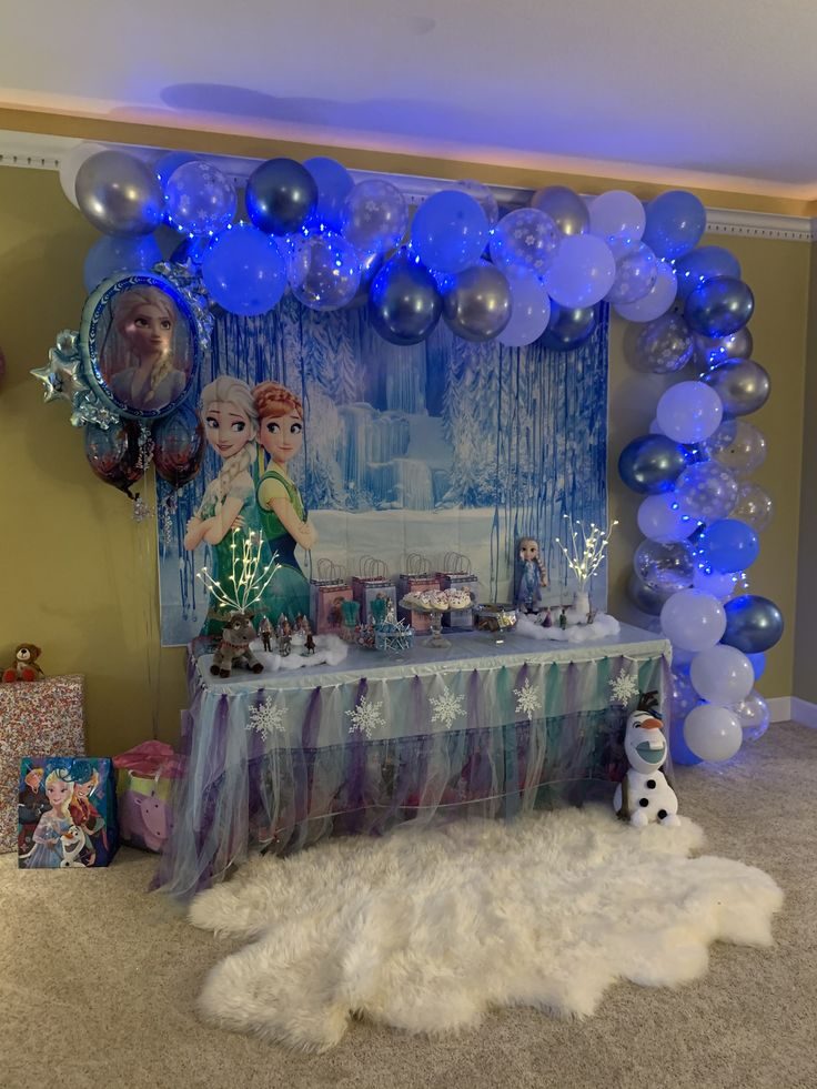 I did a Frozen birthday party theme for a 2 year old girls