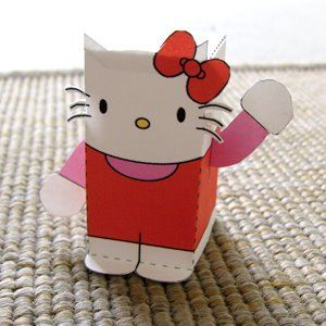 Stocking Stuffers - printable paper toys -  Hello Kitty @Cara Schatz @Carly Jackson