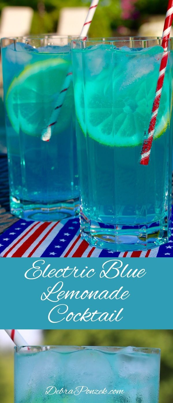 The Electric Blue Lemonade cocktail is a perfect drink for parties at the house, especially if the party can move to the yard.