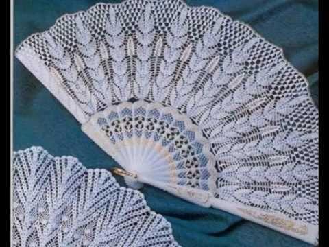 Tutorial Mi Primer Abanico crochet paso a paso (HANDMADE CROCHET FAN ) - YouTube