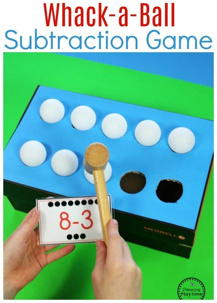 AWESOME Subtraction idea for kids - Whack-a-Ball Subtraction #mathforkids