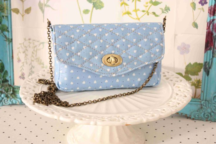 ''Asphodelus''bag....baby blue and hearts are so cute!