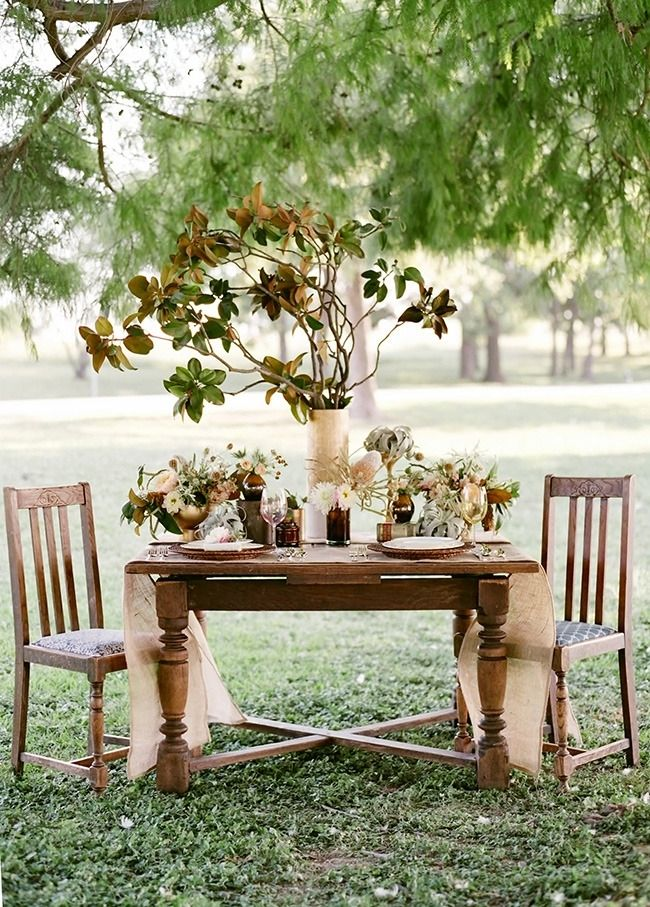 Rustic wedding centerpiece decor flowers autumn