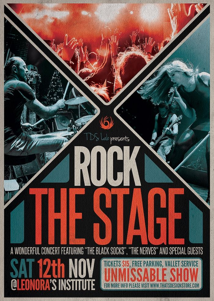 Rock The Stage Free Psd Flyer Template Freebies Layouts Photoshop Free Psd Flyer Templates Event Poster Design Free Flyer Templates