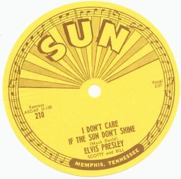 Elvis Presley 45 SUN Record Label, 1954.