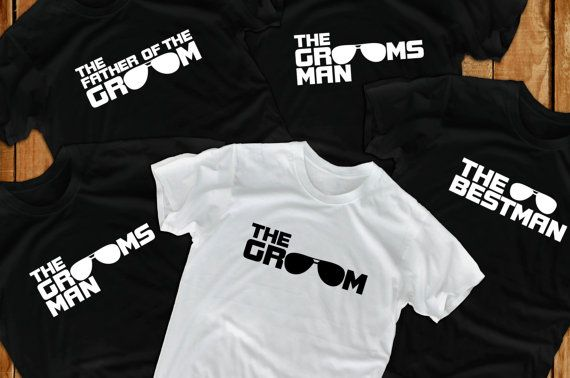 we could maybe make something similar here?? Groom t shirts 6 Bachelor Party groomsmen gift  for by lptshirt, $89.70