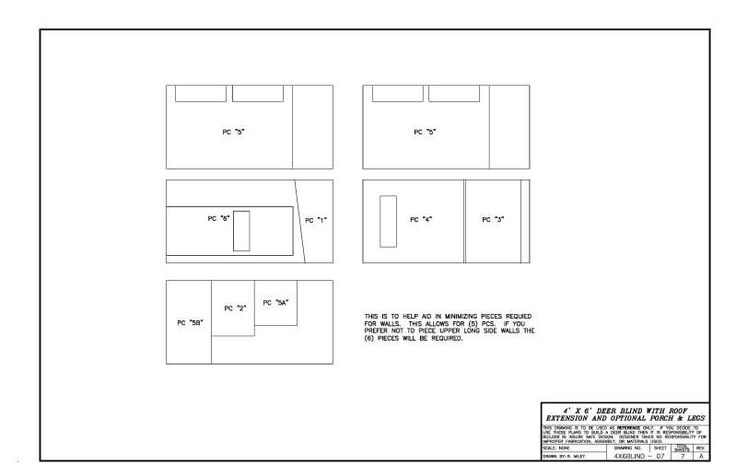 1000 images about projects to try on pinterest deer for 4x6 shooting house plans