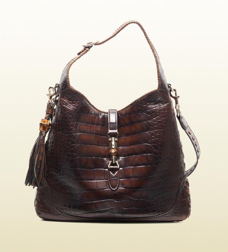 f7c84d30f43e Gucci jackie crocodile shoulder bag   Purse-a-holic   Pinterest   Sac à  Main, Sac and Mode