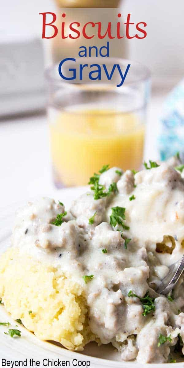 Homemade Biscuits And Gravy Recipe In 2020 Biscuits And Gravy Homemade Biscuits Homemade Gravy For Biscuits