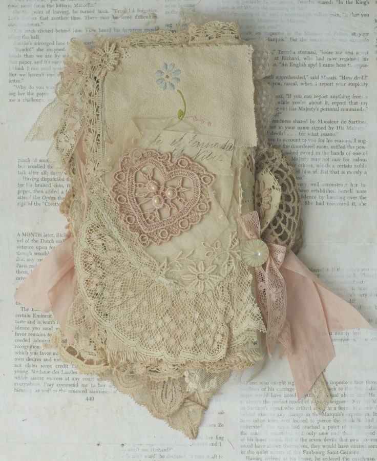 Mixed Media Fabric Collage Book of French Girls | apricotpies eBay