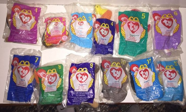 McDonalds Happy Meal Toys New in Plastic 1998 Ty Beanie Baby Complete Set 12 #Ty
