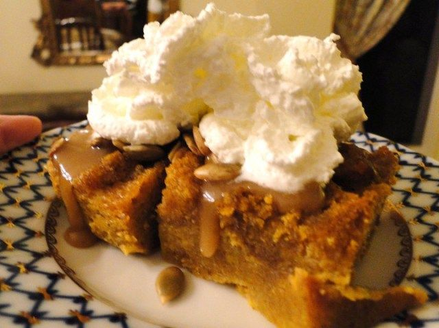Pumpkin bread pudding (Adapted from Bobby Flay's Bar Americain ...