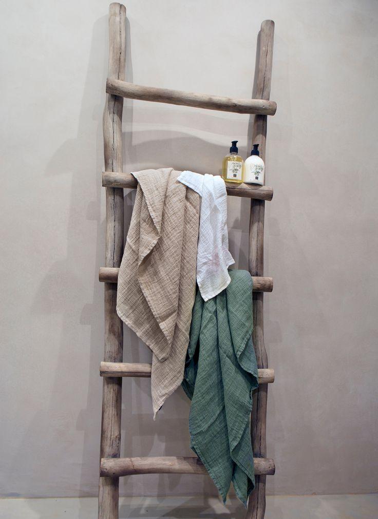 HIMLA Fresh Laundry waffle linen towel.