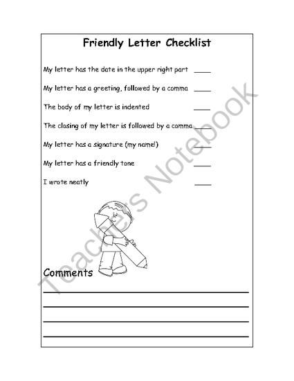 friendly letter examples 5th grade friendly letter writing and papers on pinterestwednesday. Black Bedroom Furniture Sets. Home Design Ideas