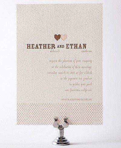 Fun & Whimsical Wedding Invitations | Hello!Lucky -- Hmm i like this design