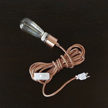 Metallic Cord Sets // west elm, $39 *60W *copper, silver, black, white *for additional light in office or bedroom