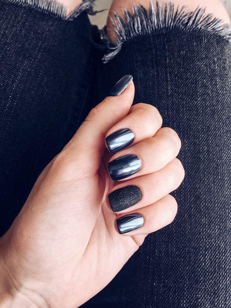 #nails #nails2017 #blacknails #luxio #luxio_noir #autumnnails #fallnails #winternails #black #ideas #маникюр #идеиманикюра #маникюр2017 #втирка #черныйманикюр #темныйманикюр