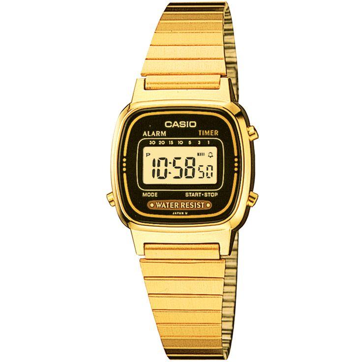 O Relógio Casio Vintage LA670WGA-1D Dourado traz estilo e praticidade para o seu dia a dia. Perfeito para o cenário urbano e esportivo, possui recursos como cronógrafo, alarme e calendário. | Netshoes
