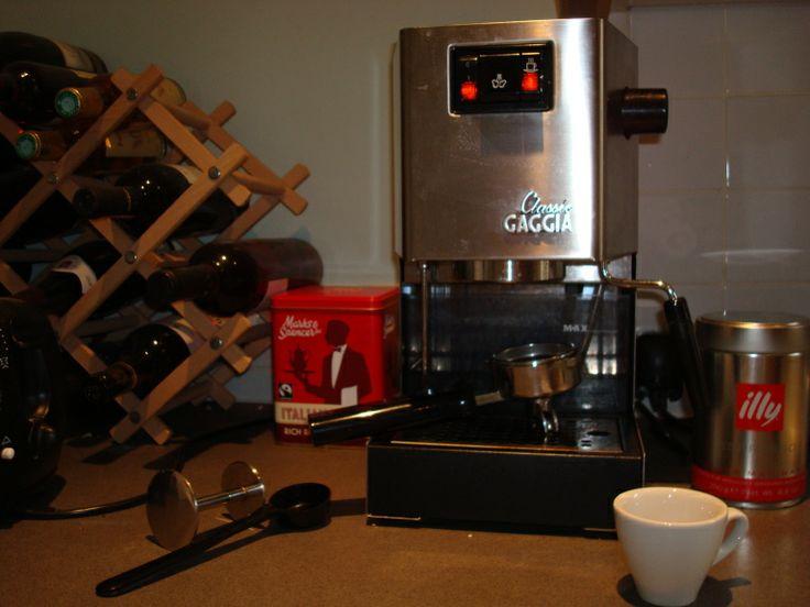 how to set up an espresso machine