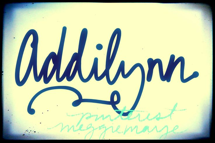 Baby girl's name Addilynn. By request. Variant of Adalia. The most popular version of this name, Adalyn, has jumped from unknown to Number 117 in just a few years.