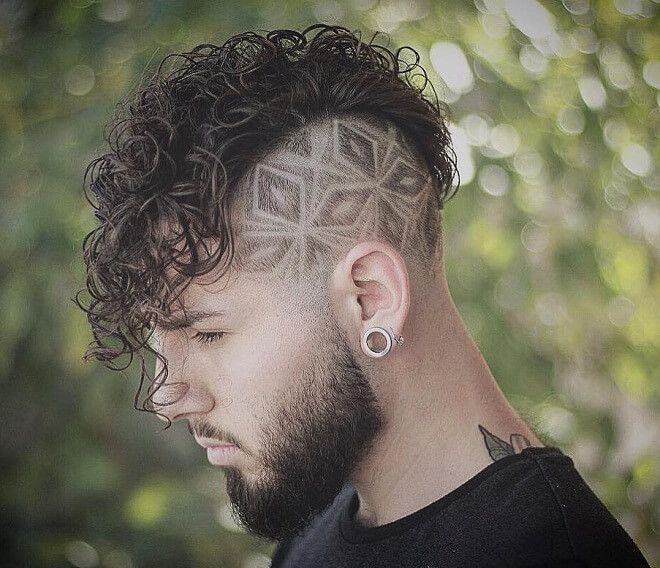 Side Part Design With Curly Fringe 45 Stylish Hipster Hairstyles for Men | Cool Hipster Haircut Ideas