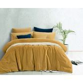 Found it at Temple & Webster - Gold Harmony Cotton Velvet Double Bed Quilt Cover Set