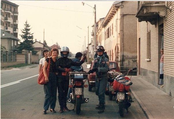Giacche blu d'Italia - Bobbio 1986 - sulla strada del ritorno
