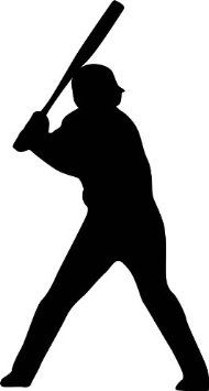 Amazon.com: Sports Silhouette Wall Decals - Baseball Player Batting Stance Righty Silhouette - 12 inch Removable Graphic: Home & Kitchen