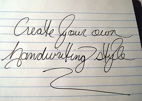 How to Create Your Personal Handwriting Style