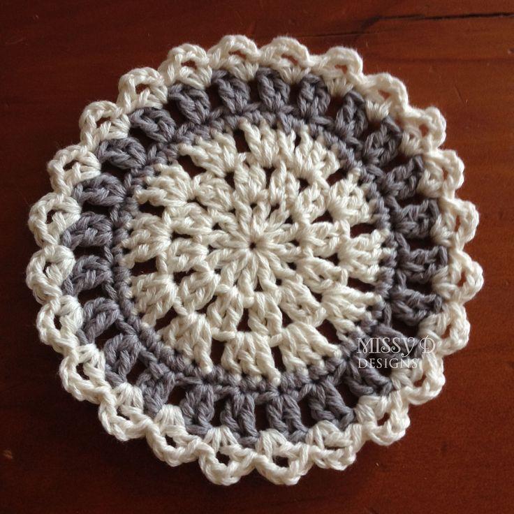 Contemporary Coaster By Daina Mickus - Free Crochet Pattern - (ravelry) #crochetcoasters