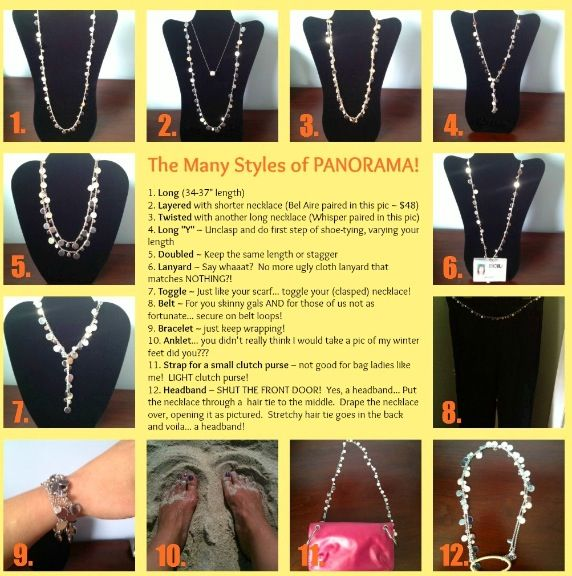"The ""Panorama"" necklace by lia sophia.  Wear it 12 different ways."