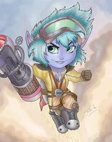 Rocket Girl Tristana, from League of Legends, by me