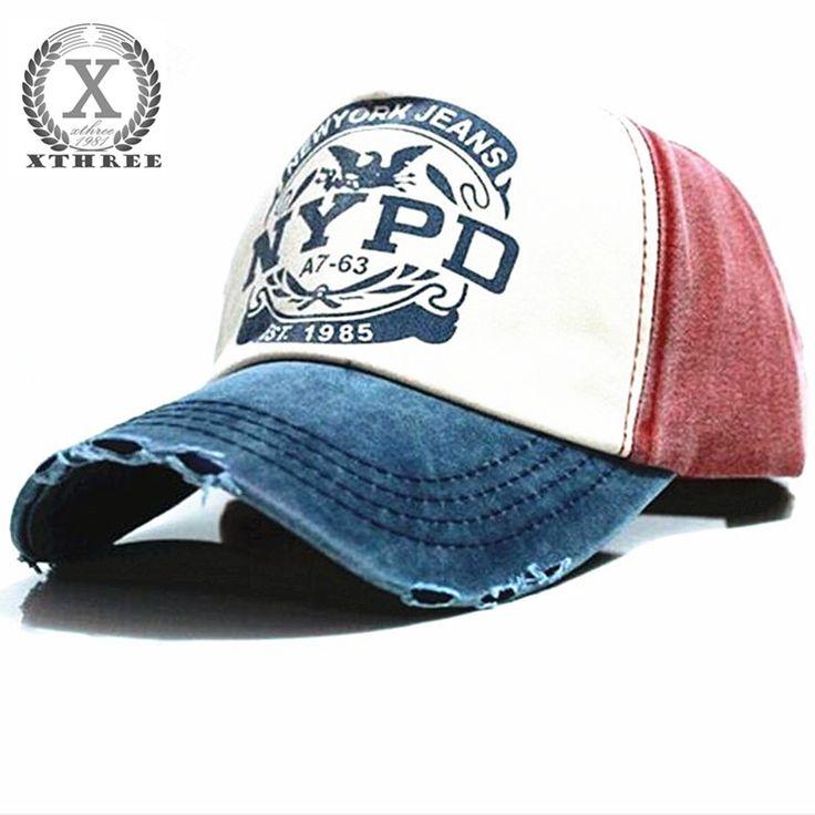 Xthree wholsale merek topi topi bisbol dipasang topi kasual cap gorras 5 panel hip hop snapback topi mencuci topi untuk pria wanita unisex