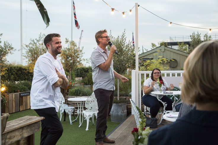 Our fantastic host, River Cottage HQ curing and smoking expert, author, consultant and teacher, Steven Lamb entertaining guests