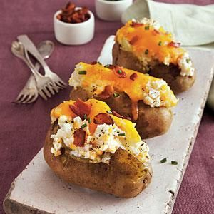 Loaded Twice-Baked Potatoes | MyRecipes.com