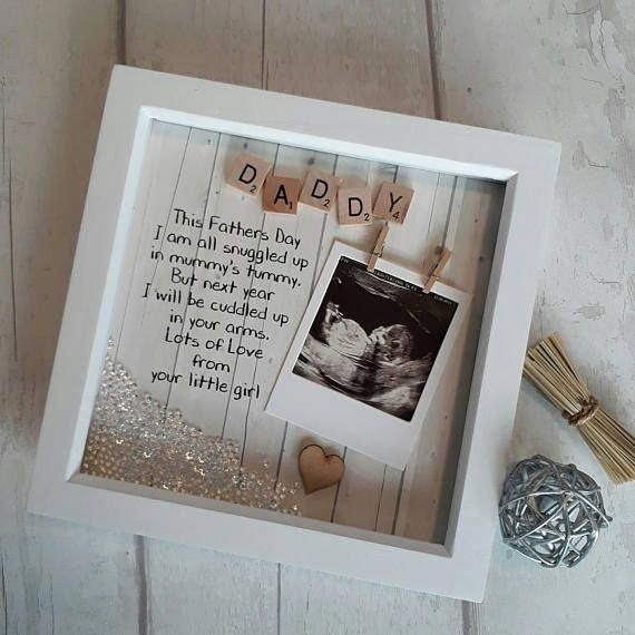 Daddy to Be Frame, 1st Fathers day Gift, Scan Picture Frame, Gift For New Daddy,…