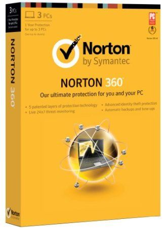 Norton 360 combines proactive threat protection, automatic backup, and computer tune-up tools in a comprehensive solution that helps keep you safe from threats, guards your files against loss, and optimizes PC performance.  Price: $39.99