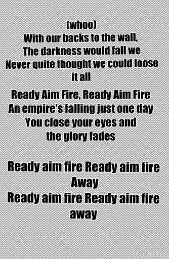 So ready for us lyrics