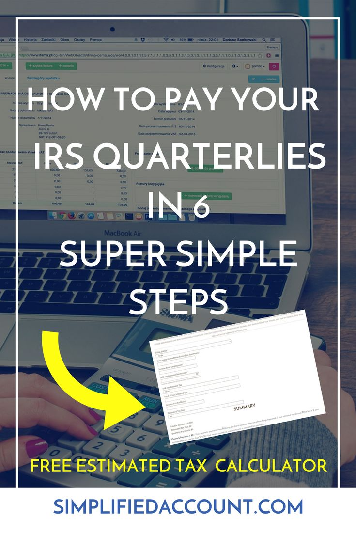 Learn how to pay your IRS Quarterlies