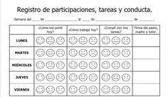 formato para capturar participaciones, tareas y conducta de los alumnos de escuela primaria,