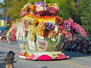 Rose Bowl Parade.....I was a small child, it was sometime in the early 1960's.