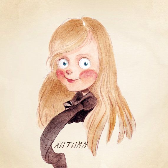 Custom Fairytale style Child's Portrait. Christmas gift idea. Sentimental artwork. Print included.