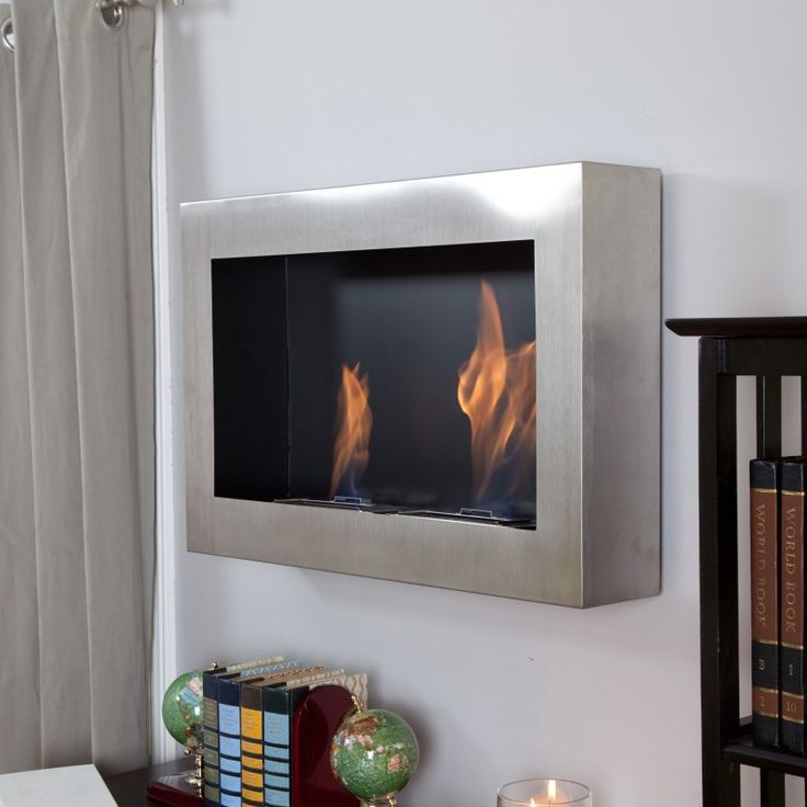 Anywhere Fireplace Soho Stainless Steel Indoor Fireplace - AW90299