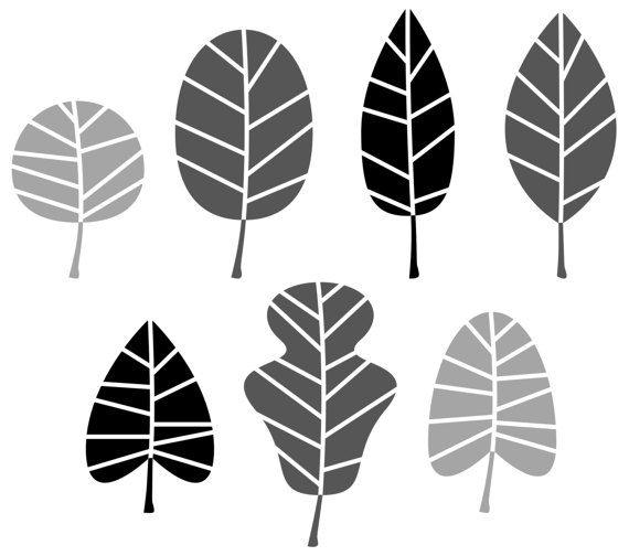 Cute abstract leaves : Original vintage by RosemaryWellnessShop